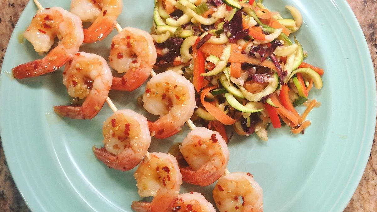 Sweet Chili Shrimp & Warm AsianSlaw