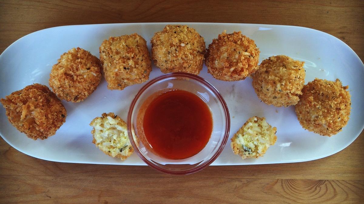 Blue Cheese Arancini with Honey HotSauce