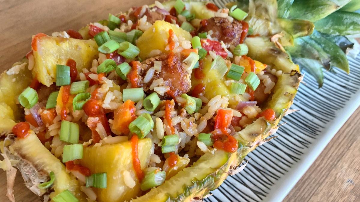 Island-Inspired Chicken & Pineapple FriedRice