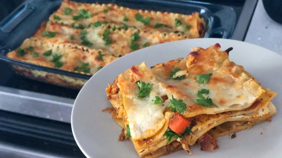Indian Chicken Lasagna