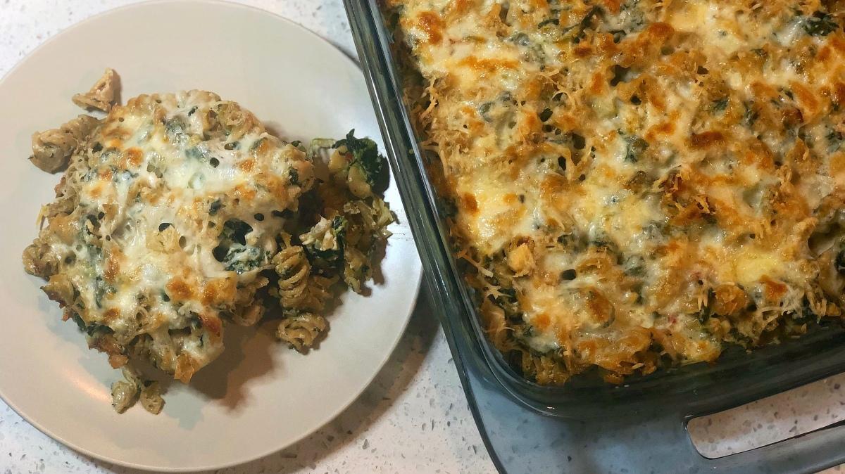 Spinach & Artichoke PastaBake